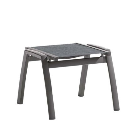 """Gartenhocker """"Trento"""" von Sieger, Gestell Aluminium eisengrau, Textilgewebe silbergrau"""