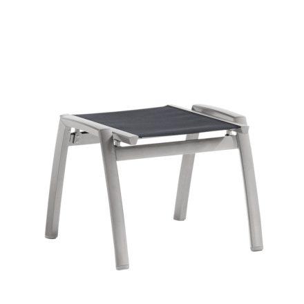 """Gartenhocker """"Trento"""" von Sieger, Gestell Aluminium graphit, Textilgewebe grau"""