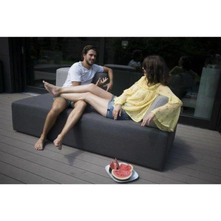 "Stern 3-Sitzer Loungemodul ""Domino"", Untergestell Aluminium, Bezug Outdoorstoff dunkelgrau"