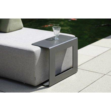 """Stern Loungemodul """"Domino"""" & Beistelltisch anthrazit, Gestell Aluminium, Bezug Outdoorstoff grau"""