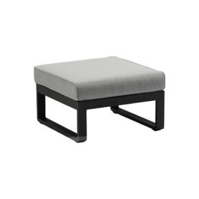 "Zebra ""Fly Lounge"" Hocker, Gestell Aluminium graphite, Kissen mixed grey"