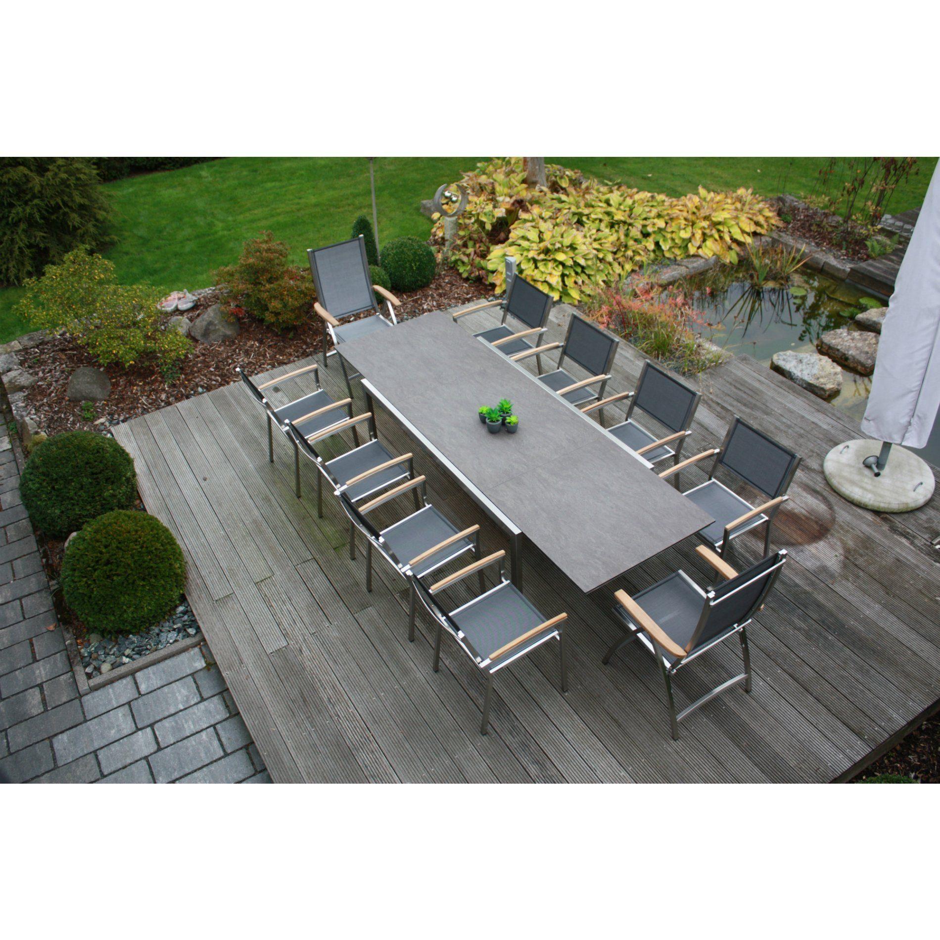zebra gartenm bel set mit stuhl pontiac und ausziehtisch kubex. Black Bedroom Furniture Sets. Home Design Ideas