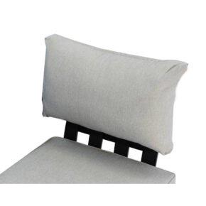 """Zebra """"Fly Lounge"""" Rückenkissen-Set aus Aluminium mit Kissen, Kissenfarbe: mixed grey (im Original ein melierter Grauton, passend zur Serie)"""