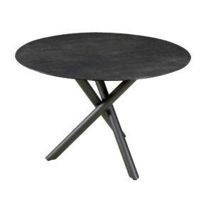 "Zebra ""Mikado"" Tischgestell Aluminium graphite mit Tischplatte SELA HPL beton dunkel"