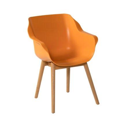 """Hartman """"Sophie Teak"""" Armchair, Gestell Teakholz, Sitzfläche Kunststoff Indian Orange"""