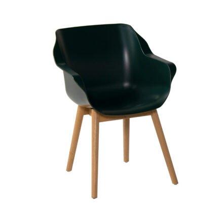 "Hartman ""Sophie Teak"" Armchair, Gestell Teakholz, Sitzfläche Kunststoff Moss Green"