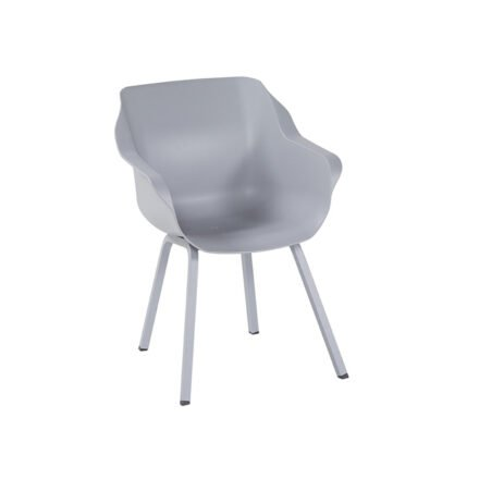 "Hartman ""Sophie Element"" Armchair,, Gestell Aluminium misty grey, Sitzschale misty grey"