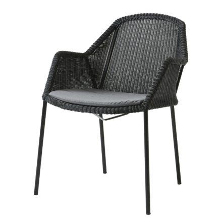 "Cane-line Sitzkissen für Stapelstuhl ""Breeze"", Cane-line Sunbrella® Natté, grau"
