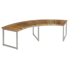 """Zebra """"Onyx"""" Gartenbank, Gestell Edelstahl, Sitzfläche aus recyceltem Teakholz"""