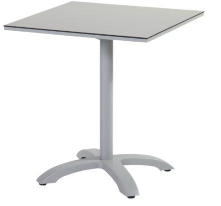 "Hartman Bistrotisch ""Sophie"", Gestell Aluminium misty grey, Tischplatte HPL light grey"