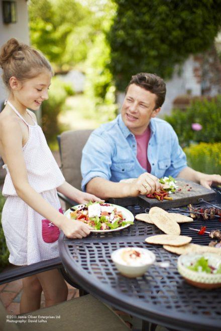 """Hartman """"Jamie Oliver"""" Gartentisch mit Grill-Einsatz, Aluminium-Guss riven grey"""