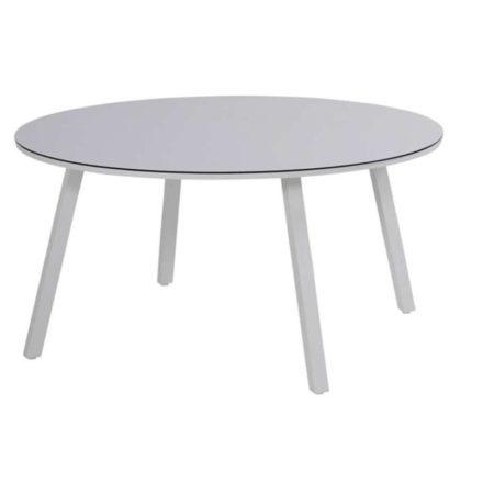 """Hartman Gartentisch """"Sophie"""" Element, Gestell Aluminium misty grey, Tischplatte HPL light grey, Durchmesser: 150 cm"""