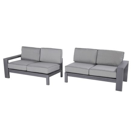 "Hartman ""Titan"" Lounge-Set, Aluminium seal grey"