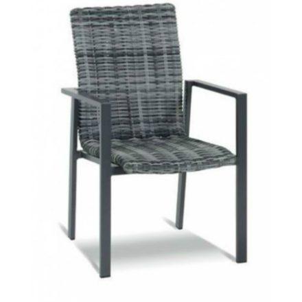 "Hartman ""Santa Marta"" Stapelstuhl Gestell Aluminium grau, Sitz-und-Rückenfläche Geflecht diamantgrau"