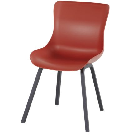 "Hartman ""Sophie Element"" Dining Chair, Gestell Aluminium carbon black, Sitzschale vulcano red"
