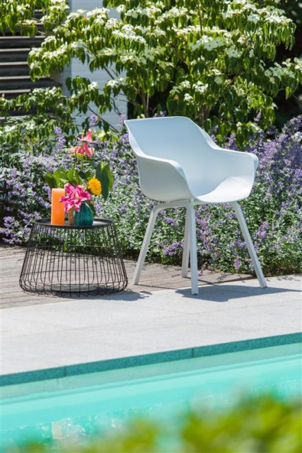 "Hartman ""Sophie Element"" Armchair,, Gestell Aluminium royal white, Sitzschale royal white"