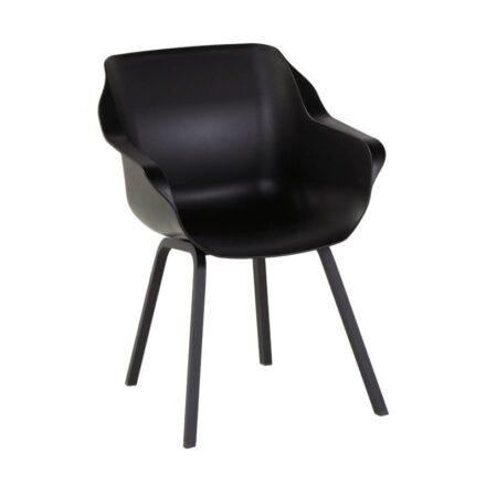 "Hartman ""Sophie Element"" Armchair,, Gestell Aluminium carbon black, Sitzschale carbon black"