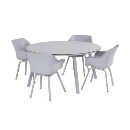 "Hartman ""Sophie Element"" Armchair, Gestell Aluminium misty grey, Sitzschale Kunststoff misty grey"
