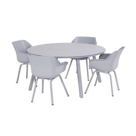 "Hartman ""Sophie Element"" Armchair, Gestell Aluminium misty grey, Sitzschale Kunststoff misty grey"