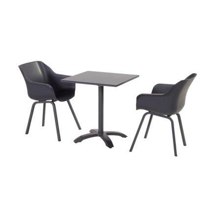 """Hartman """"Sophie Element"""" Armchair, Gestell Aluminium xerix, Sitzschale Kunststoff xerix mit """"Sophie"""" Bistrotisch"""