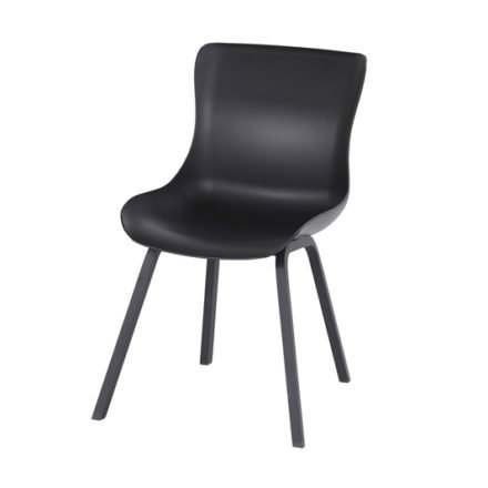 "Hartman ""Sophie Element"" Dining Chair, Gestell Aluminium carbon black, Sitzschale carbon black"