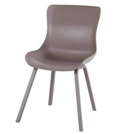 "Hartman ""Sophie Element"" Dining Chair, Gestell Aluminium taupe, Sitzschale taupe"
