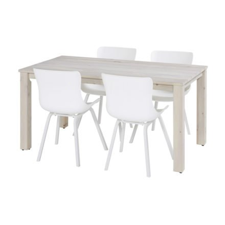 "Hartman ""Sophie Element"" Dining Chair, Gestell Aluminium royal white, Sitzschale royal white"
