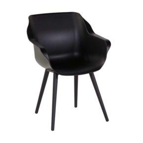 "Hartman Studio Armchair ""Sophie"", Gestell Aluminium carbon black, Sitzfläche Kunststoff carbon black"