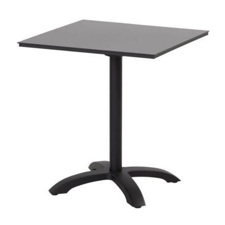 "Hartman ""Sophie"" Bistrotisch, Gestell Aluminium carbon black, Tischplatte HPL black"