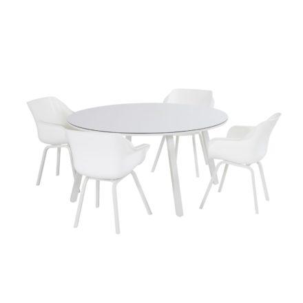 "Hartman ""Sophie Studio"" Gartenstuhl, Gestell Aluminium royal white, Sitzfläche Kunststoff royal white"