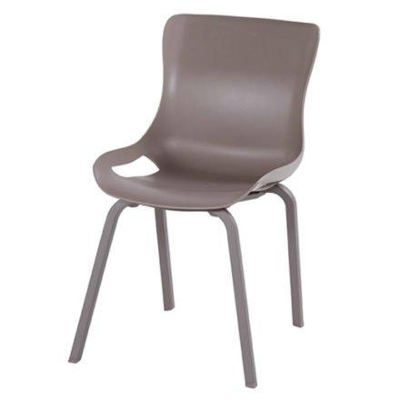 "Hartman ""Sophie Pro"" Dining Chair, Gestell Aluminium taupe, Sitzschale taupe"
