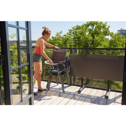 "Hartman ""Sophie Pro"" Dining Chair, Gestell Aluminium xerix, Sitzschale xerix mit ""Sophie"" Bistrotisch"