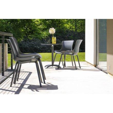 "Hartman ""Sophie Pro"" Dining Chair, Gestell Aluminium xerix, Sitzschale xerix und ""Sophie"" Bistrotisch, xerix"