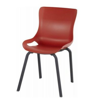 "Hartman ""Sophie Pro"" Dining Chair, Gestell Aluminium vulcano red, Sitzschale vulcano red"