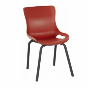 "Hartman ""Sophie Pro"" Dining Chair, Gestell Aluminium carbon black, Sitzschale vulcano red"