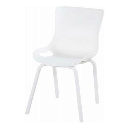 "Hartman ""Sophie Pro"" Dining Chair, Gestell Aluminium royal white, Sitzschale royal white"