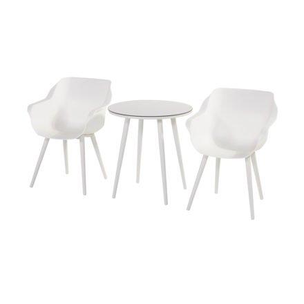 "Hartman ""Sophie Studio"" Armchair, Gestell Aluminium royal white, Sitzschale royal white"