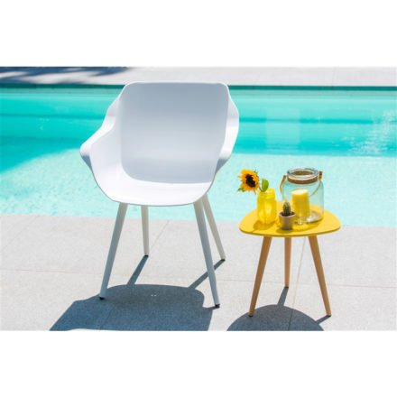 "Hartman ""Sophie Studio"" Armchair, Gestell Aluminium royal white, Sitzschale royal white"