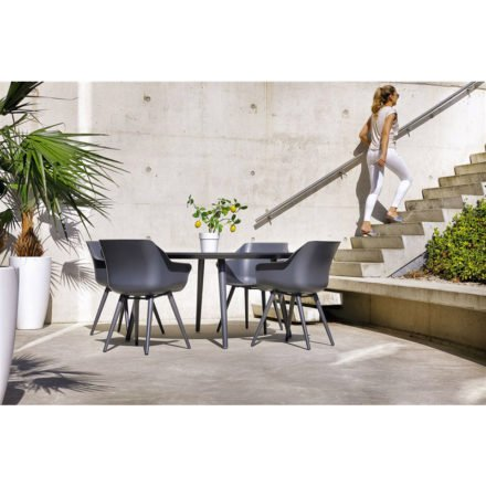 """Hartman """"Sophie Studio"""" Armchair, Gestell Aluminium xerix, Sitzschale xerix mit """"Sophie Studio"""" Gartentisch, Gestell Aluminium xerix, HPL-Platte"""