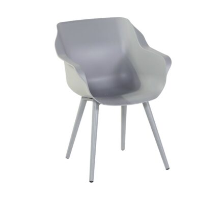 "Hartman ""Sophie Studio"" Armchair, Gestell Aluminium misty grey, Sitzschale misty grey"