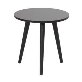 """Hartman """"Sophie Studio"""" Beistelltisch, Gestell Aluminium carbon black, Tischplatte HPL black, Ø 45 cm, Tischhöhe: 40 cm"""