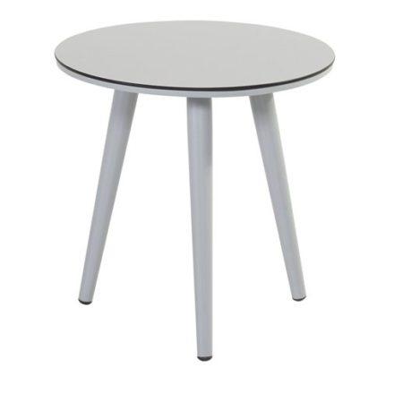 "Hartman ""Sophie Studio"" Beistelltisch, Gestell Aluminium misty grey, Tischplatte HPL light grey, Ø 45 cm, Tischhöhe: 40 cm"