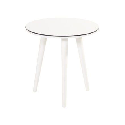"""Hartman """"Sophie Studio"""" Beistelltisch, Gestell Aluminium royal white, Tischplatte HPL white, Ø 45 cm, Tischhöhe: 40 cm"""