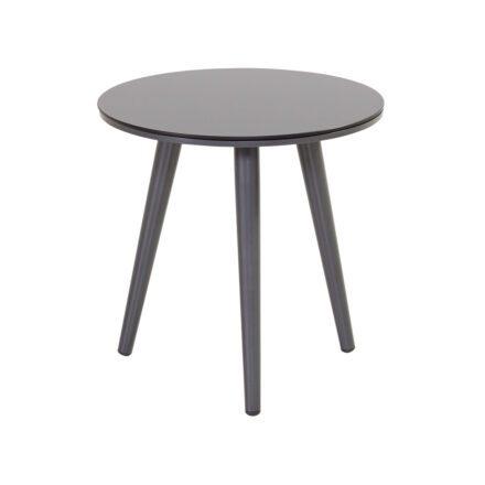 """Hartman """"Sophie Studio"""" Beistelltisch, Gestell Aluminium xerix, Tischplatte HPL anthrazit, Ø 45 cm, Tischhöhe: 40 cm"""
