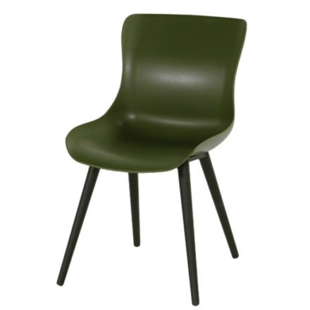 """Hartman """"Sophie Studio"""" Dining Chair, Gestell Aluminium carbon black, Sitzschale moss green"""