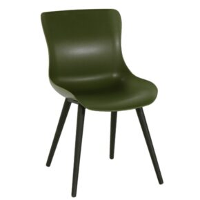 "Hartman ""Sophie Studio"" Dining Chair, Gestell Aluminium carbon black, Sitzschale moss green"