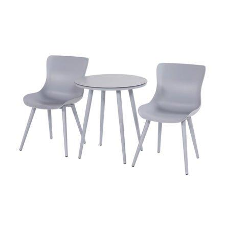 """Hartman """"Sophie Studio"""" Dining Chair, Gestell Aluminium misty grey, Sitzschale misty grey mit """"Sophie Studio"""" Bistrotisch misty grey"""