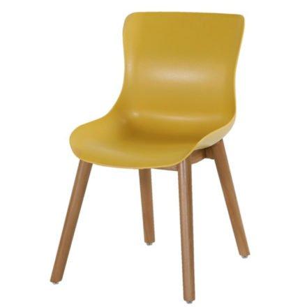 "Hartman ""Sophie"" Dining Chair, Gestell Teakholz, Sitzschale Kunststoff curry yellow"
