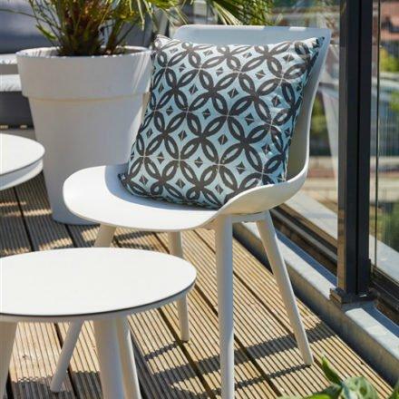 """Hartman """"Sophie Studio"""" Dining-Chair royal white und Beistelltisch HPL/weiss"""