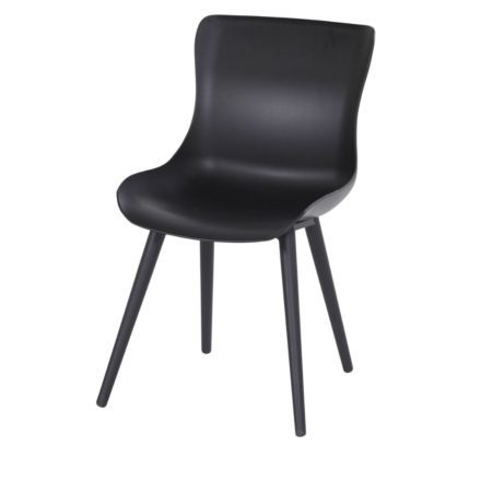 """Hartman """"Sophie Studio"""" Dining Chair, Gestell Aluminium carbon black, Sitzschale carbon black"""